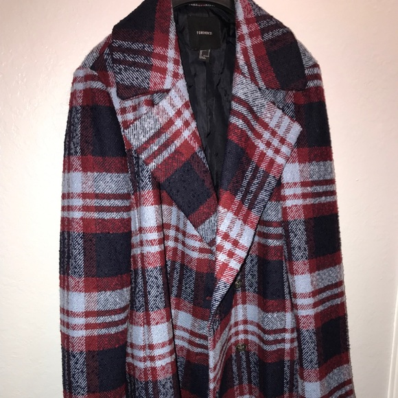 Forever 21 Jackets & Blazers - Forever 21 Plaid Coat Women's size Large